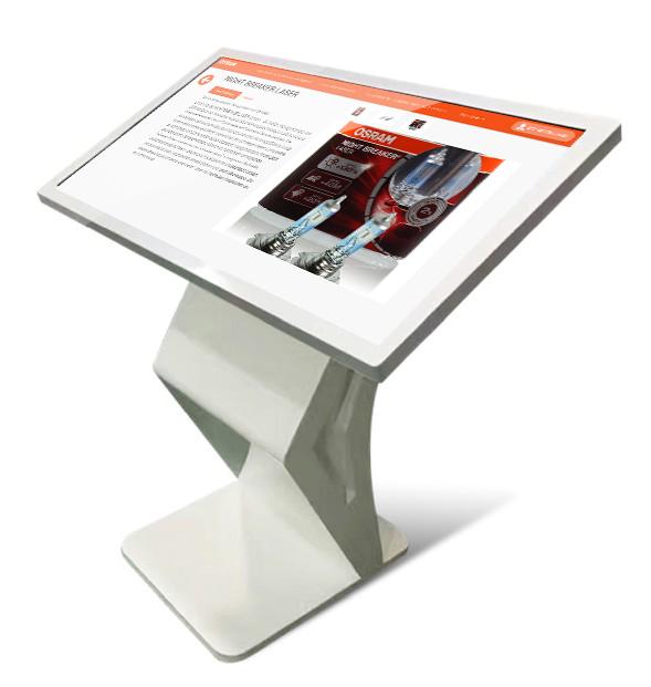 Grosses Pultgerät eines interaktiven Digital Signage Kiosk